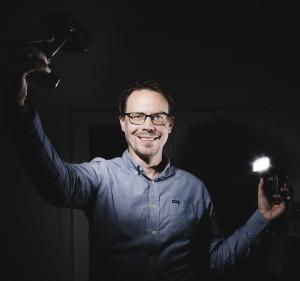 Fotoshooting, Präsentation vor der Kamera: Stephen Portrait Blitz