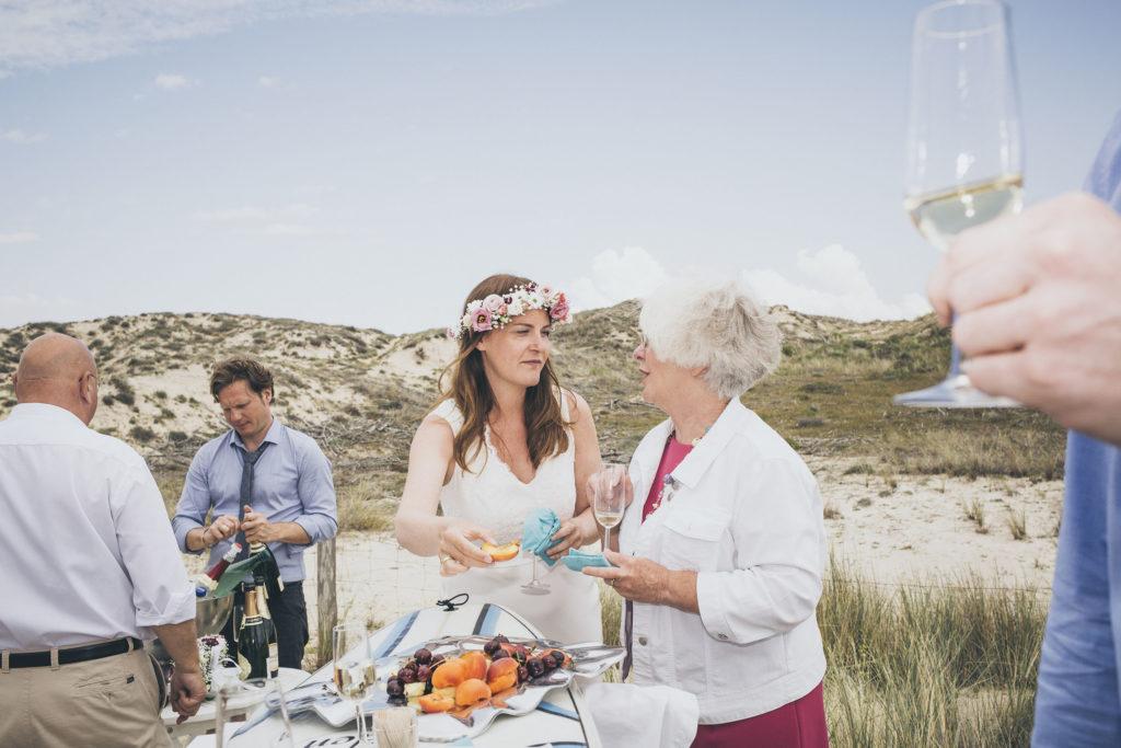 Hochzeit am Strand - Frühstück