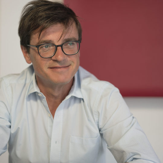 Businessfotografie: Wirtschaftsjournalist Bernd Kupilas zu Gast bei Stephen Petrat