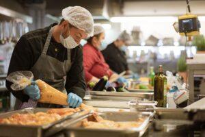 Kaiserschote Köche bei der Arbeit